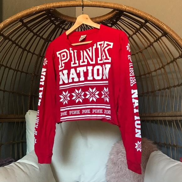 PINK Victoria's Secret Tops - PINK Long Sleeve Crop Top